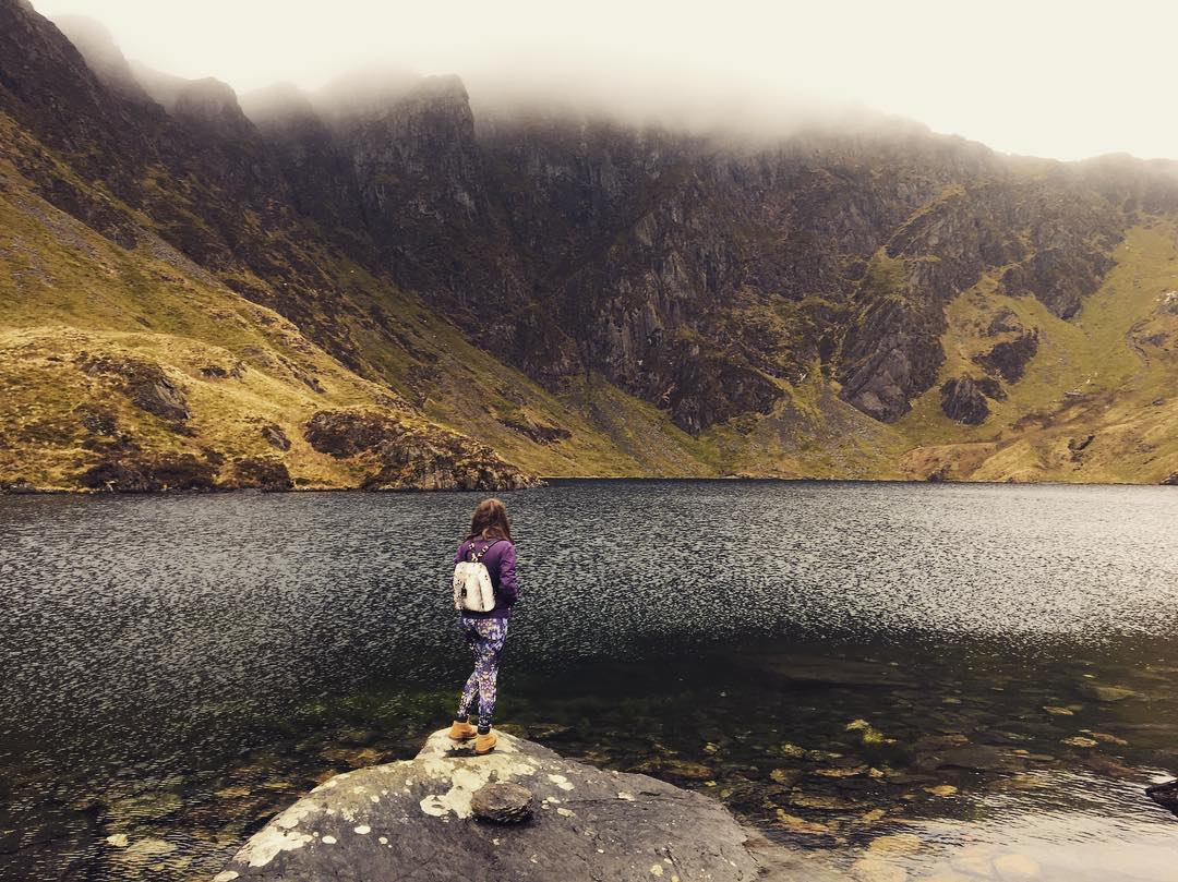 Amy Kingston stood looking over the reservoir of Cadair Idris for Fresh Air Friday