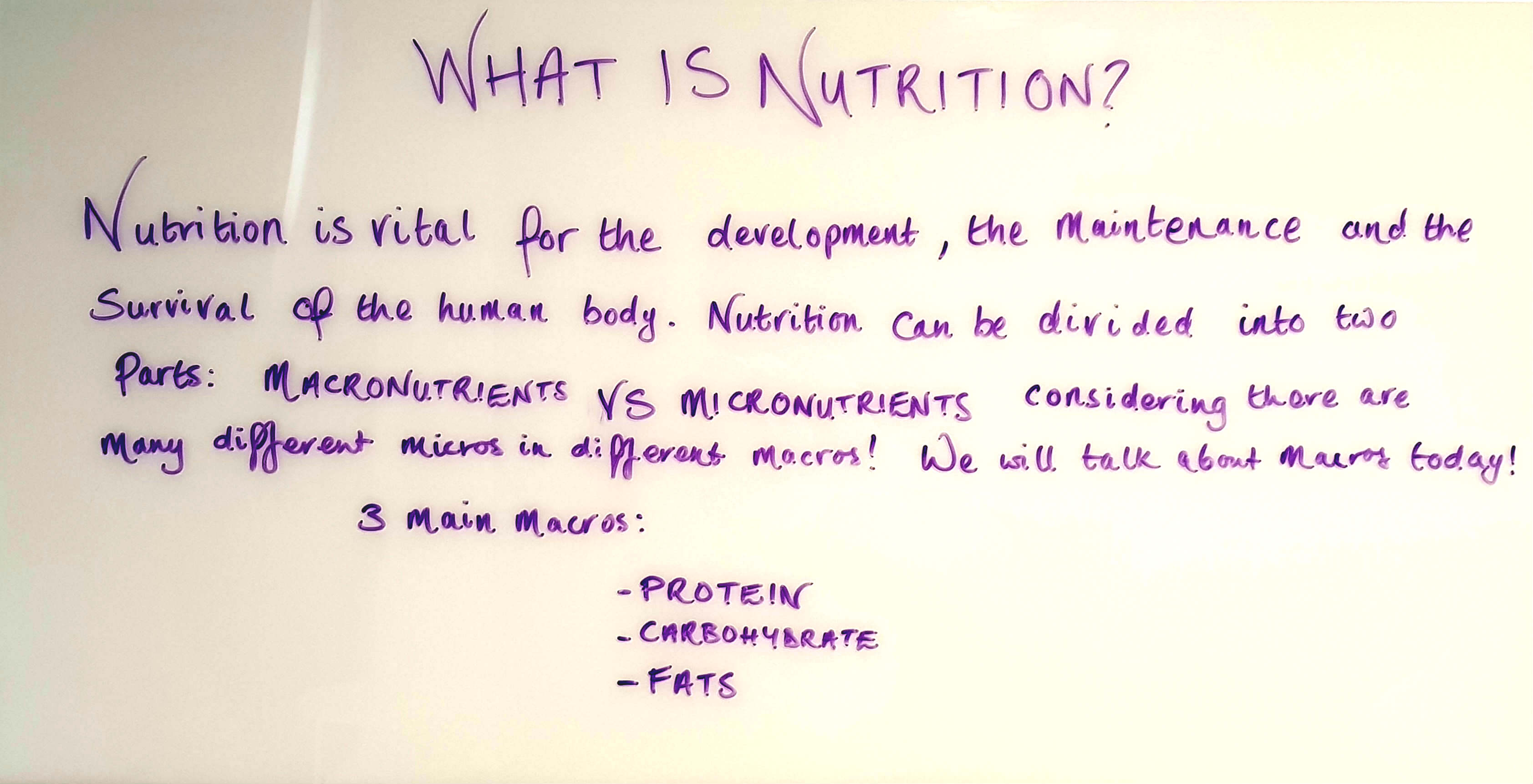 Nutrition is vital for the development, maintenance and the survival of the human body.