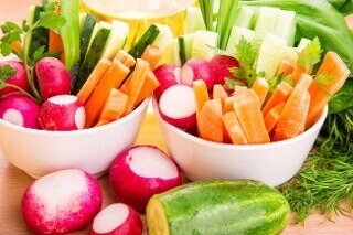 raw foods cut up