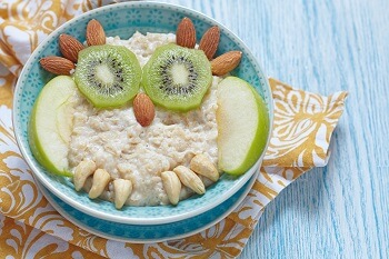 Getting creative with porridge, fruit and nuts