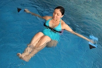Aqua aerobics are ideal for pregnant women, as there's no chance of falling over