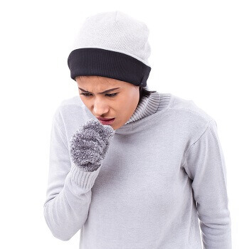 Woman with chest infection