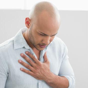shingles chest pain