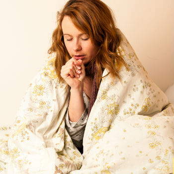 Woman with a cough