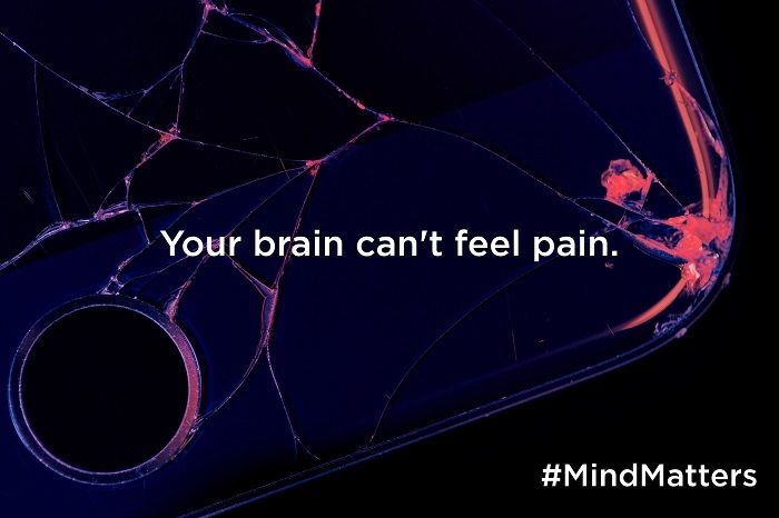 Your brain can't feel pain