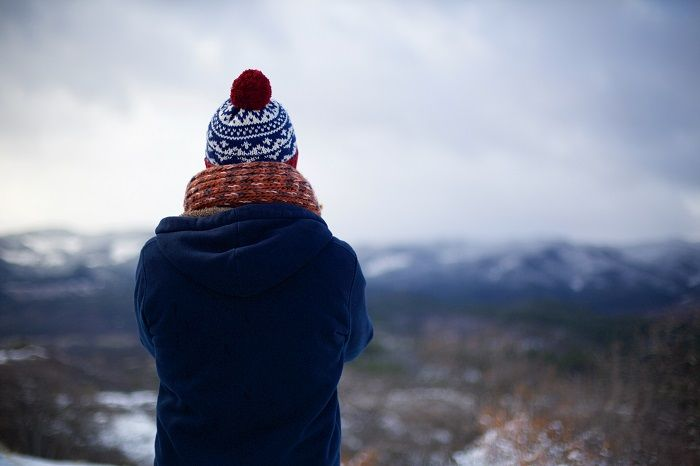 Person in warm winter clothing