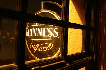 This Guinness sign will be a familiar site on St Patrick's Day