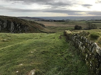 The view along Hadrian's Wall