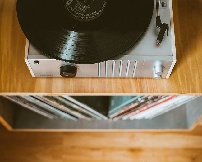 Vinyl music collection