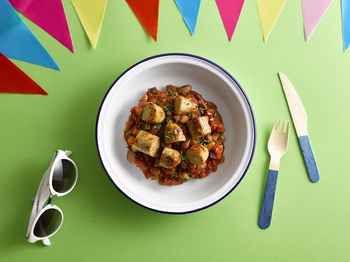A healthy sausage casserole - perfect for a festival