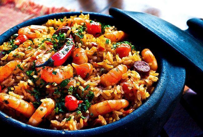 Paella is a classic Mediterranean dish