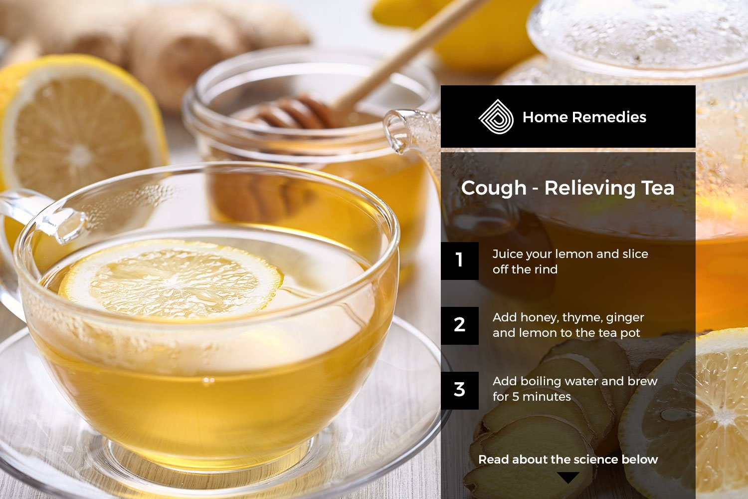 Homemade cough relieving tea