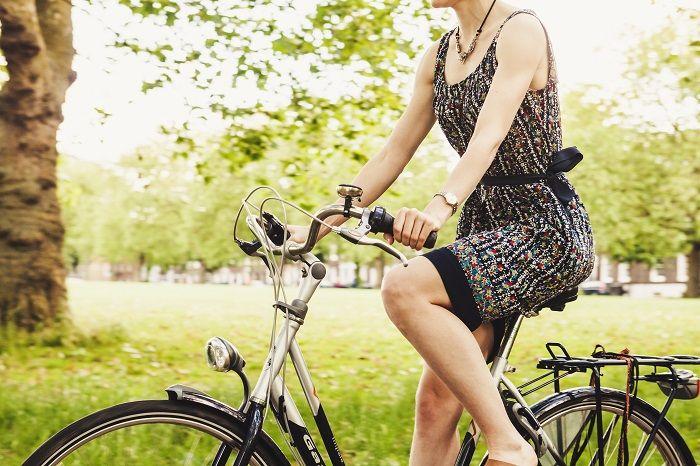Student on a bike