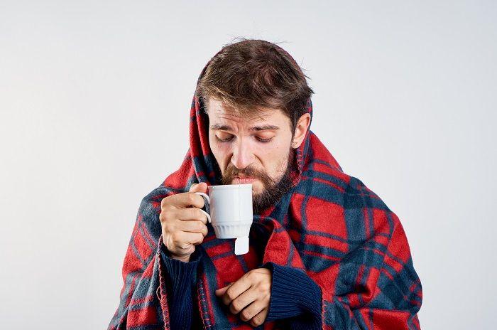 Man with 'man flu'