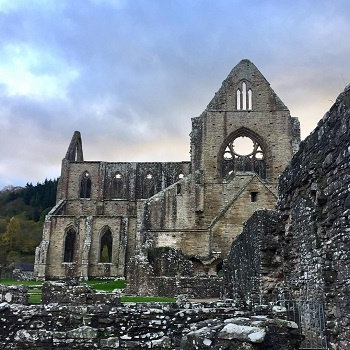 Tintern Abbey, found along the Offa's Dyke trail