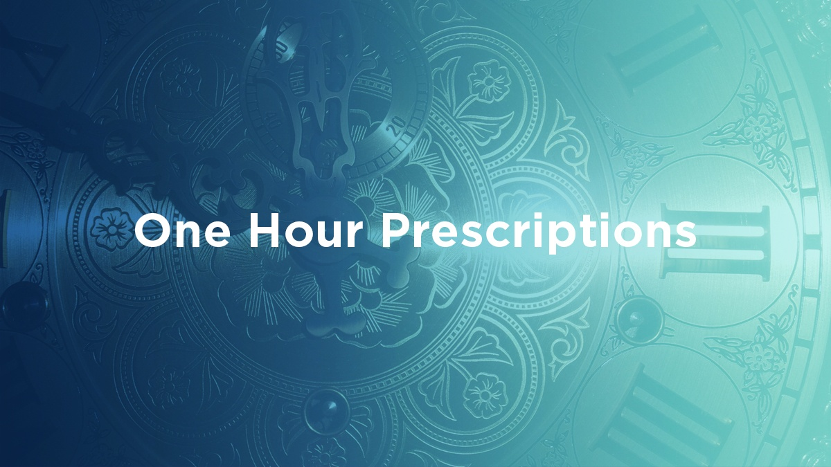 one hour prescriptions