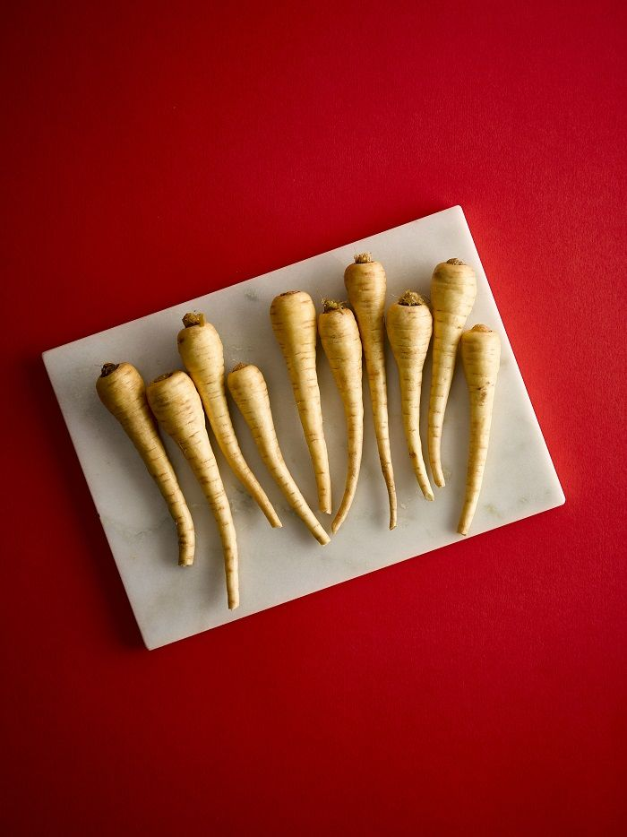 Parsnips on a plate