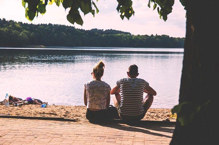 Couple in the sun