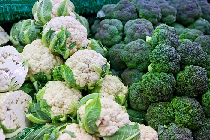 Broccoli and cauliflower will help reduce inflammation