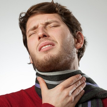 Suffering from a sore throat