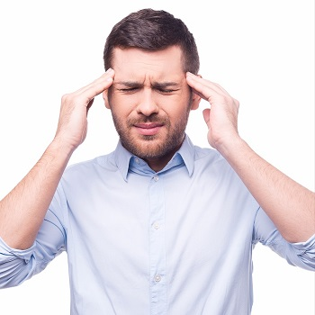 Symptoms of stress in a man