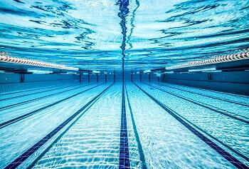 Swimming pool underwater.