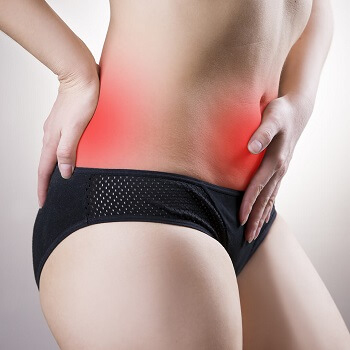 Treatment of Cystitis symptoms in a woman