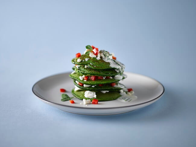 Super-green spinach pancakes