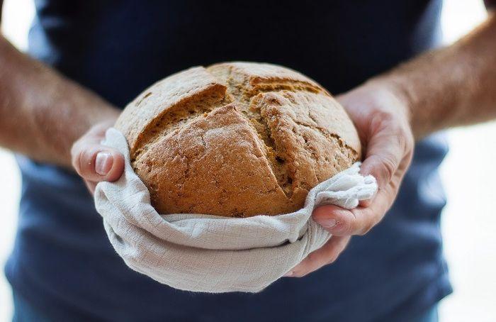 A freshly baked loaf of bread