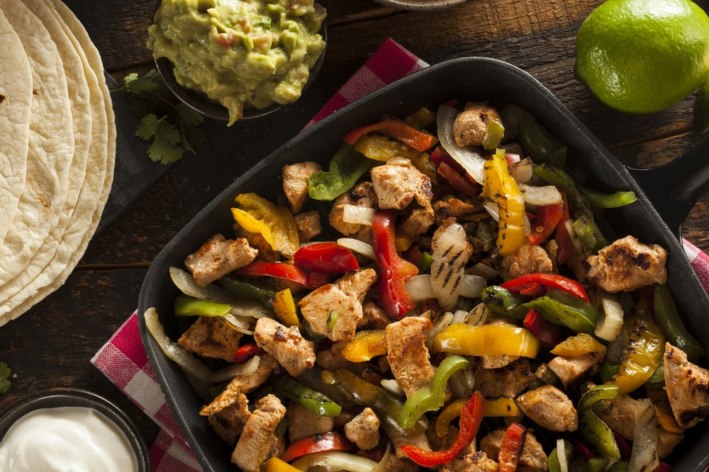 Easy-to-make turkey fajitas