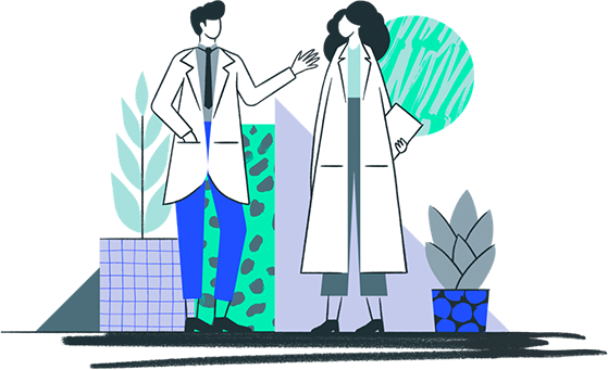 Illustration of two doctors