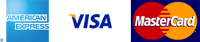 Payments accepted from American Express, Visa and MasterCard