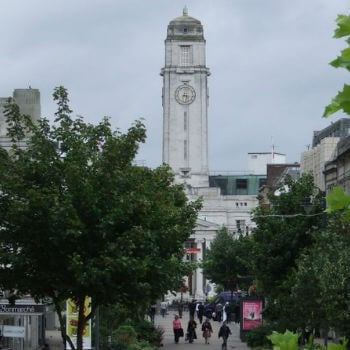 A view of Slough town centre