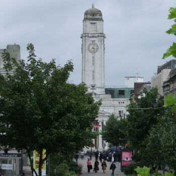 A view of luton town centre