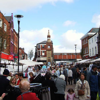 Ormskirk on market day