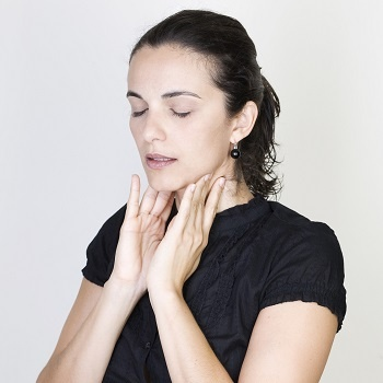 Women checking for swollen glands