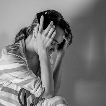 Woman with anxiety