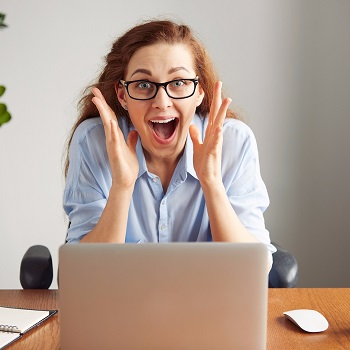 Woman experiencing the mania phase of mood swings