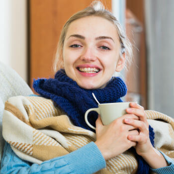 Woman after bronchitis treatment