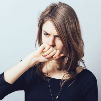 Woman with Bronchitis