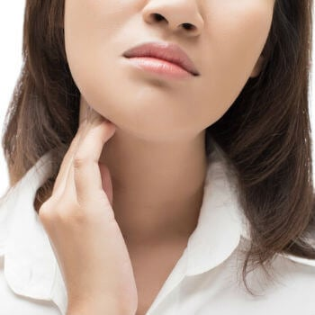 Impetigo sores can appear on the face or neck.