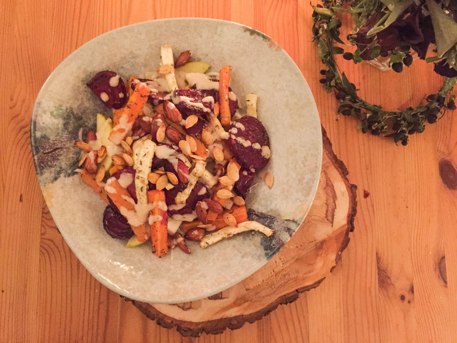 CELERIAC, BEETROOT, CARROT AND APPLE SALAD