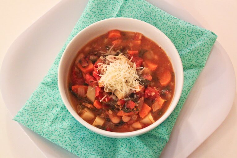 Hearty, Healthy, Winter Minestrone Soup