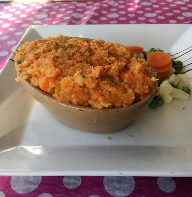 ROOT VEG COTTAGE PIE - MADE WITH SWEDE AND CARROT MASH