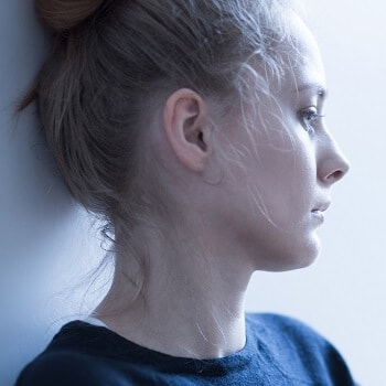 Woman dealing with anxiety symptoms