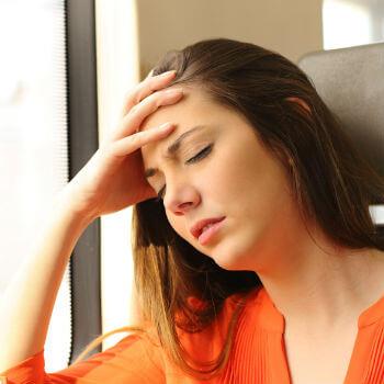 Woman with Glandular Fever